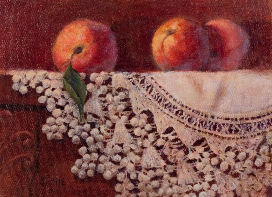 Peaches and Lace 9'' x 12''