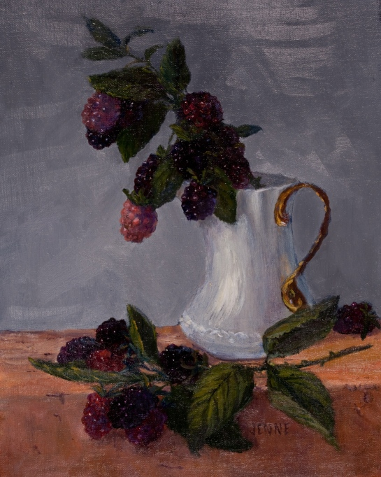 Blackberries and Pitcher  9'' x 12''