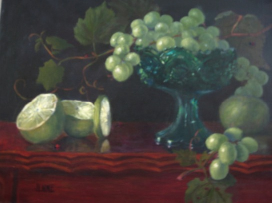 Candy Dish and Grapes11'' x 14''