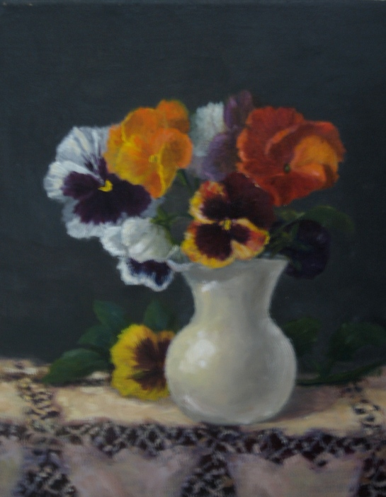 Pansies in a Vase 8'' x 10''