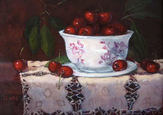 Cherries in a Bowl  10'' x 13''