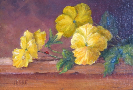 Yellow Pansies6''x8''