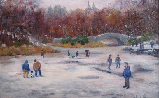 Central Park Afternoon 8''x10''