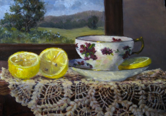 Tea Cups and Lemons  9'' x 12''
